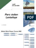 Documents de Global Wind Power France présentés lors de la réunion publique de Fours, mari 17 mai 2016