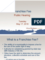 5/17 Shakopee Franchise Fees Presentation