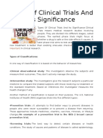 Types of clinical Clinical Trial and Jobs in Clinical Research