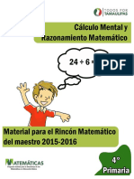Cálculo Mental 4