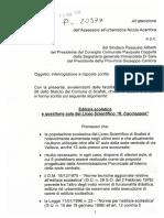 """Interrogazione su Edilizia Scolastica e Liceo Scientifico """"R. Caccioppoli"""""""
