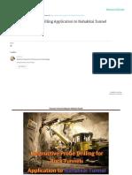 Destructive Probe Drilling Application to Nahakkai Tunnel