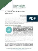 Lo que se negocia en La Habana