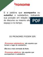 Tabela de Pronomes Pessoais - Gramática