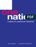 One Nation Labour's Political Renewal