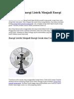 Perubahan Energi Listrik Menjadi Energi Gerak