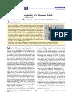A Computational Investigation of a Molecular Switch