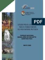 Estudio Previo Justificativo para el Establecimiento del Área Natural Protegida Parque Nacional Manglares de Nichupté