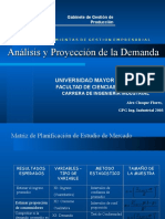 Analisis y Proyeccion de La Demanda