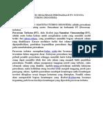 Analisis Struktur Organisasi Perusahaan Pt