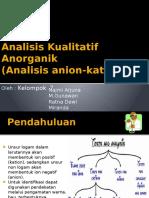 Analisis Anorganik Kualitatif