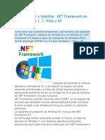 Como Instalar y Habilitar Net Frame