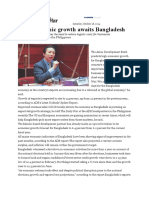 High Economic Growth Awaits Bangladesh