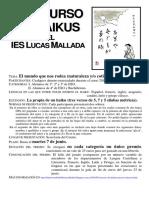 Concurso de Haikus. Concurso Literario Anual del IES Lucas Mallada (2016)