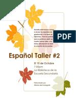 spanish workshop 2 flyer