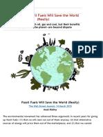 CCNet 14 March Matt Ridley Fossil Fuels