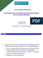 1 Estrategias Para La Implementación Generalizada de La Interoperabilidad Poggi
