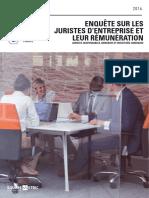 Enquête sur la rémunération des juristes d'entreprise 2016