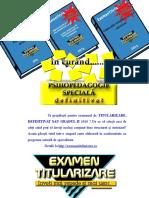 Sinteze grade didactice - Titularizare, Definitivat 2016