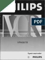 Manual video cassete phlipsVR456