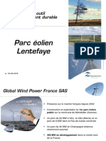 Les documents de Global Wind Power France présentés lors de la réunion publique de Luzy, mercredi 18 mai 2016