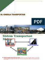 Kinerja Transportasi