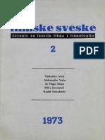 Filmske Sveske, Sv. 5, Br. 2_ Grada Za Ist - Unknown