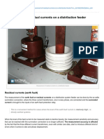 Measurement of Residual Currents on a Distribution Feeder