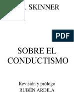 BF Skinner - Sobre El Conductismo - V1.0