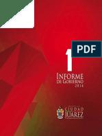Primer Informe de Gobierno Ciudad Juárez 2014
