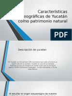 Características de Yucatán Como Patrimonio Natural