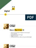 """Workshop """"Recuperar a privacidade digital"""" - Porto - 13/05/2016"""