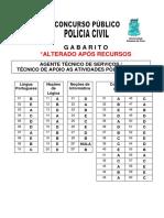 Nucepe 2012 Pc Pi Agente Tecnico de Servicos Apoio as Atividades Policiais Gabarito