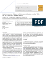 Catalytic Conversion of Glucose to 5 Hydroxymethylfurfural Over SO42 ZrO2 and SO42 ZrO2 Al2O3 Solid Acid Catalysts 2009 Catalysis Communications