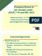 OSEA ASCE7-10 Most Common Errors in Seismic Design-04!14!15