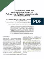 Polypyrrole PolystyrenesuIphonate Films