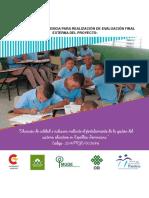 Terminos de Referencia Evaluacion Final Proyecto 2014-PRYC-003686