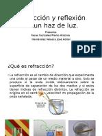 Refracción y Reflexión de Un Haz de Luz