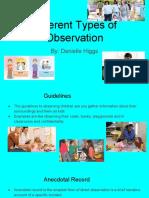observation slides - danielle higgs