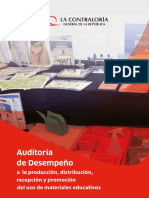 Auditoria de Desempeño a La Produccion Distribucion Recepcion y Promocion Del Uso de Materiales Educativos 2