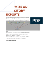 AUTOMIZE ODI REPOSITORY EXPORTS.docx