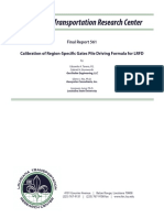 LTRC Final Report for Calibration of Region-Specific Gates Pile Driving Formula for LRFD