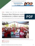 05-17-2016 Proyecta Neto Robinson Centros de Transferencia y Relleno Sanitario