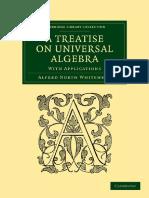 Whitehead - }Treatise on Universal Algebra