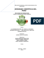 LA ADMINISTRACIÓN, Su Ciencia y Los Sistemas