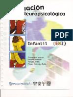 EVALUACION NEURO PSICOLOGICA INFANTIL, Manual de aplicacion