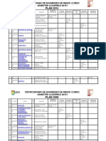 Cronograma de Examenes de Medio Curso Thyg .Docx 2015-1