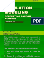 13 Simulation Modeling-generating Random Numbers