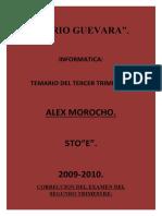 Alex Morocho.3er Trimestre