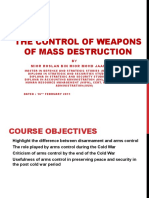 Control of Weapon of Mass Destruction Lecture Notes for Student